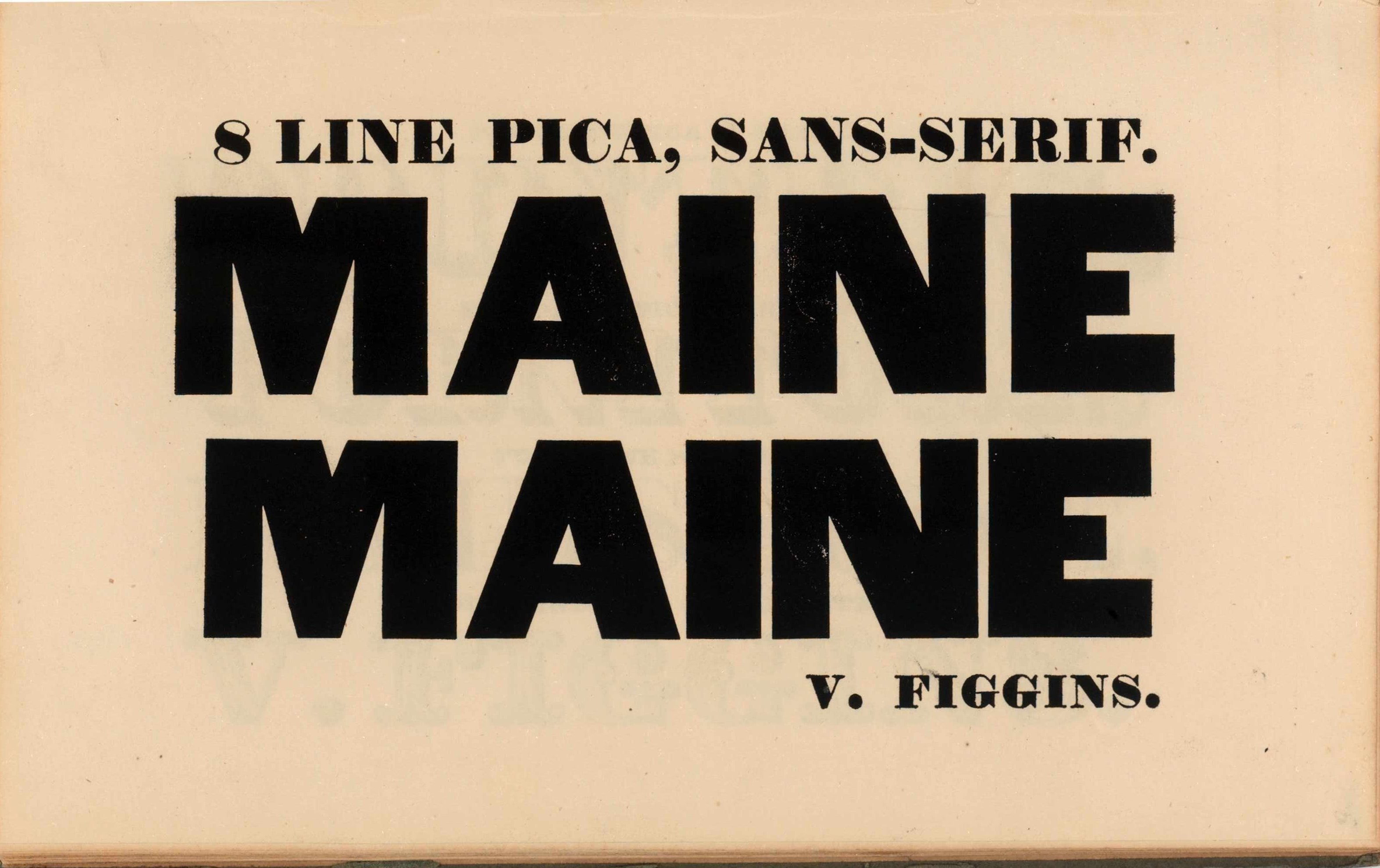 Vincent Figgins, Specimen of printing types. London 1828.
