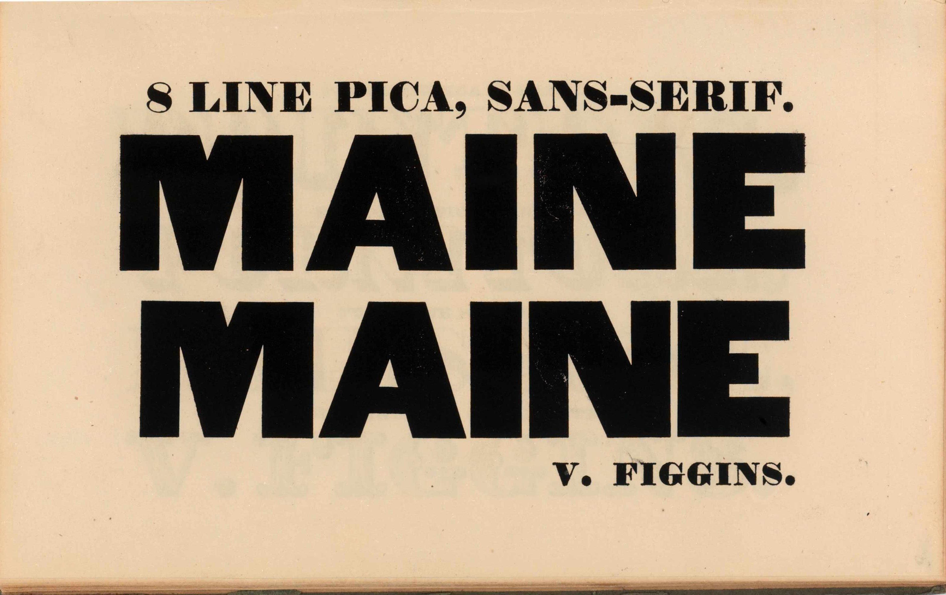Vincent Figgins, Specimen of printing types. London 1828.