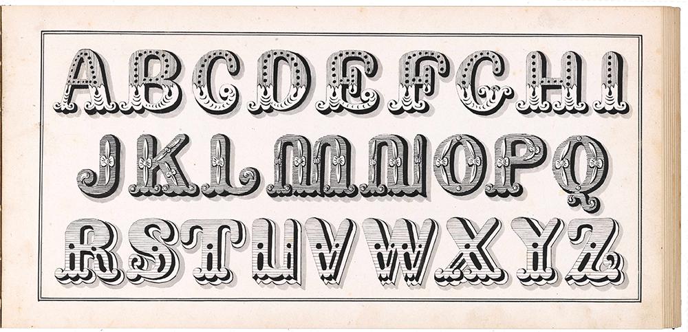 Joh. Missillie, Verzameling van letteren ten gebruike voor schilders en teekenaars. Sluis ca. 1855. Manuscript.
